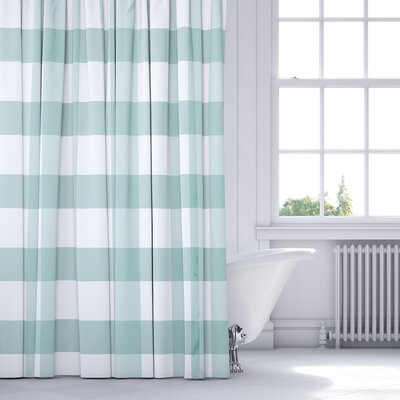 Ophelie Shower Curtain Color: Teal