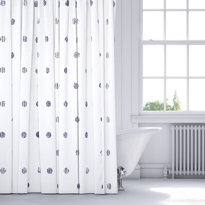 Victoire Shower Curtain Color: Purple