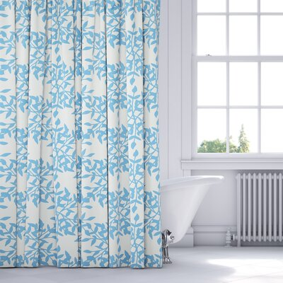 Palmyra Shower Curtain Color: Blue