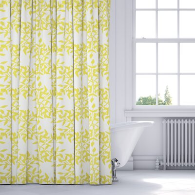 Palmyra Shower Curtain Color: Yellow