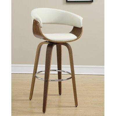 39 Swivel Bar Stool Upholstery: Ecru
