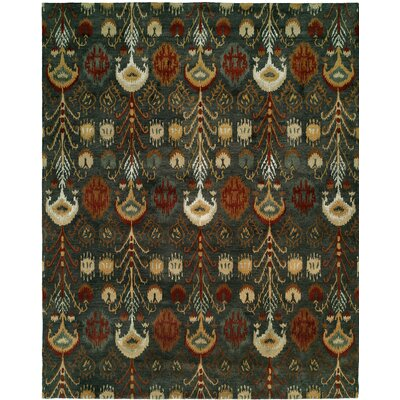 Hand-Tufted Green Area Rug Rug size: 5 x 8