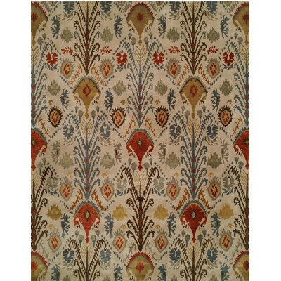 Hand-Tufted Beige/Brown Area Rug Rug size: 96 x 136