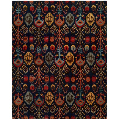 Hand-Tufted Blue Area Rug Rug size: 96 x 136