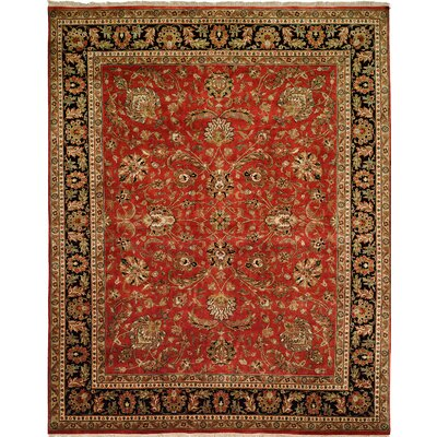 Hand-Knotted Red/Brown Area Rug Rug size: 6 x 9