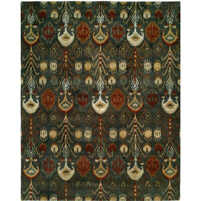 Hand-Tufted Green Area Rug Rug size: Round 6