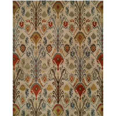 Hand-Tufted Beige/Brown Area Rug Rug size: Runner 26 x 10
