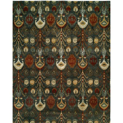 Hand-Tufted Green Area Rug Rug size: 36 x 56