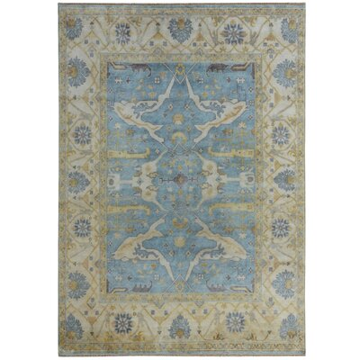 Serapis Hand-Knotted  Beige/Blue Area Rug