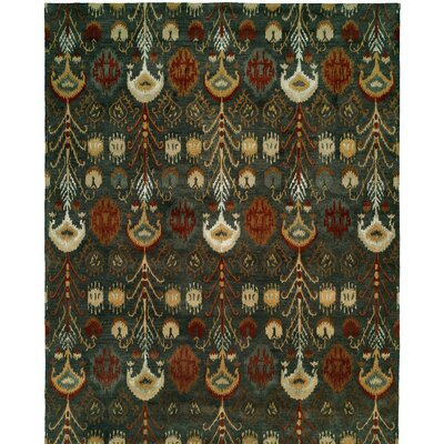 Hand-Tufted Green Area Rug Rug size: 6 x 9