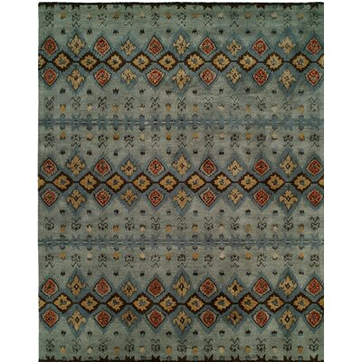 Hand-Tufted Gray/Blue Area Rug Rug size: 6 x 9