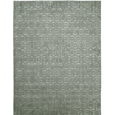 Hand-Woven Gray Area Rug Rug size: 4 x 6