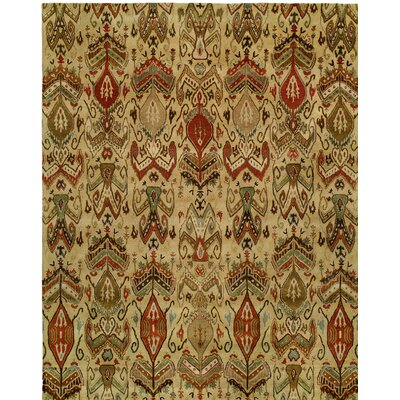 Hand-Tufted Beige Area Rug Rug size: Rectangle 96 x 136