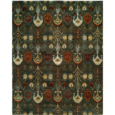 Hand-Tufted Green Area Rug Rug size: Rectangle 9 x 12