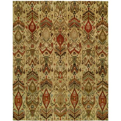 Hand-Tufted Beige Area Rug Rug size: Rectangle 36 x 56