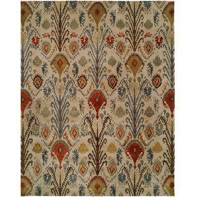Hand-Tufted Beige/Brown Area Rug Rug size: Rectangle 5 x 8