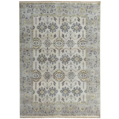 Serapis Hand-Knotted Gray/Blue Area Rug
