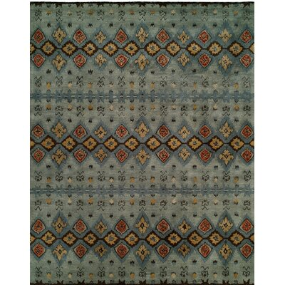 Hand-Tufted Gray/Blue Area Rug Rug size: 36 x 56