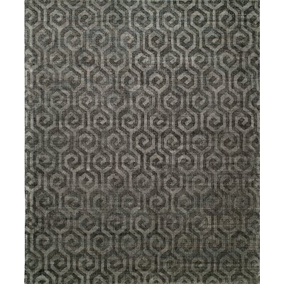 Handmade Gray Area Rug Rug Size: 8 x 10