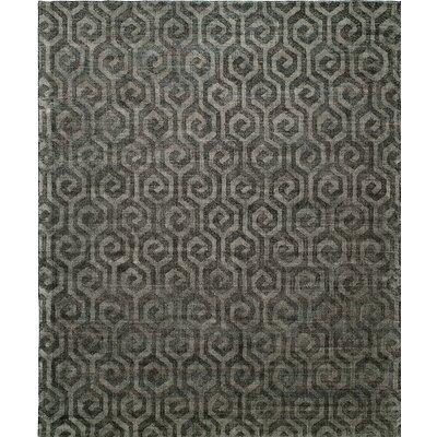 Handmade Gray Area Rug Rug Size: 10 x 14