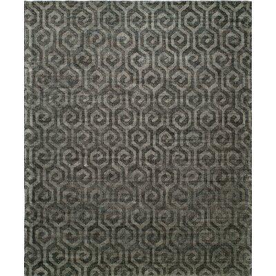 Handmade Gray Area Rug Rug Size: 12' x 15'