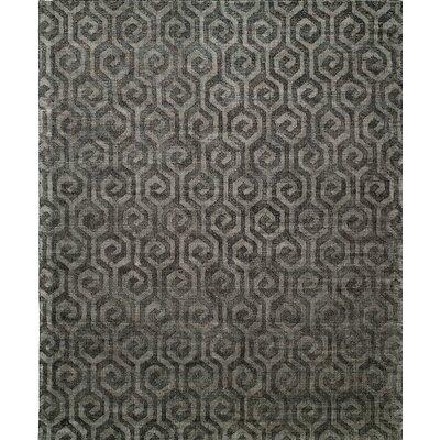 Handmade Gray Area Rug Rug Size: 36 x 56