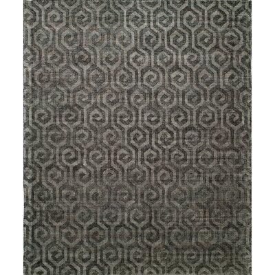 Handmade Gray Area Rug Rug Size: 9 x 12