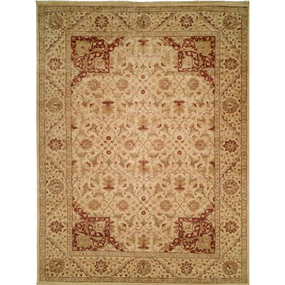 Hand-Knotted Beige Area Rug Rug Size: Runner 26 x 10
