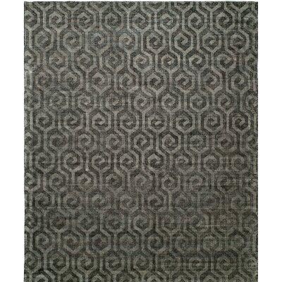 Handmade Gray Area Rug Rug Size: 2 x 3