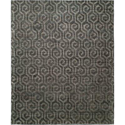 Handmade Gray Area Rug Rug Size: 5 x 7