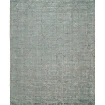 Handwoven Gray Area Rug Rug Size: Runner 26 x 10