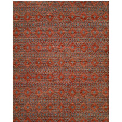 Hand-Woven Brown/Gray Area Rug Rug Size: 9 x 12