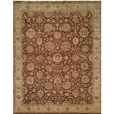 Hand-Knotted Brown Area Rug Rug Size: 11 x 16