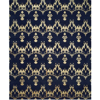Hand-Woven Blue Area Rug Rug size: 8 x 10