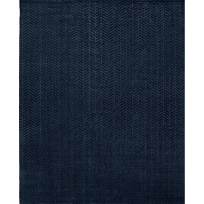 Handwoven Blue Area Rug Rug Size: 9 x 12