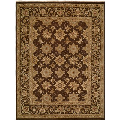 Hand-Woven Brown Area Rug Rug size: Square 10