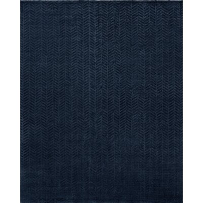 Handwoven Blue Area Rug Rug Size: 10 x 14