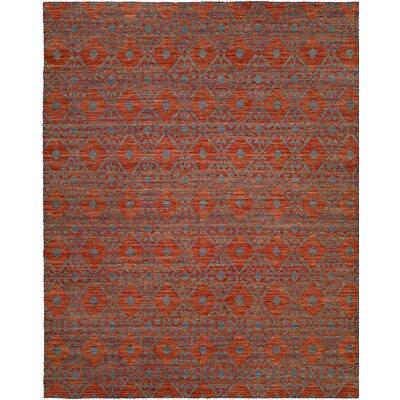 Hand-Woven Brown/Gray Area Rug Rug Size: 8 x 10