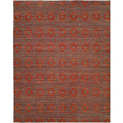 Hand-Woven Brown/Gray Area Rug Rug Size: 8 x 10
