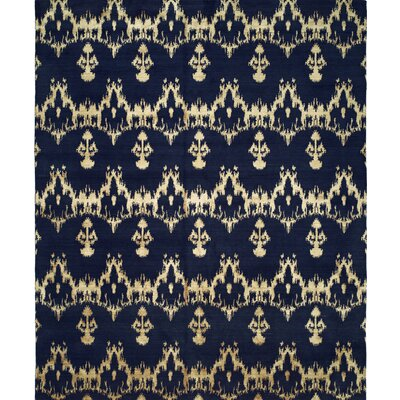 Hand-Woven Blue Area Rug Rug size: Runner 26 x 10