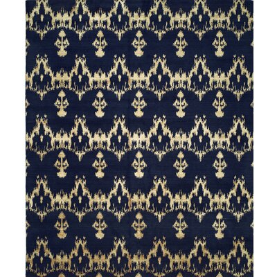 Hand-Woven Blue Area Rug Rug size: 10 x 14