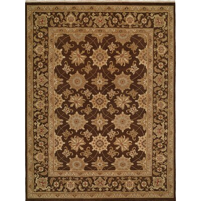 Hand-Woven Brown Area Rug Rug size: Rectangle 4 x 10