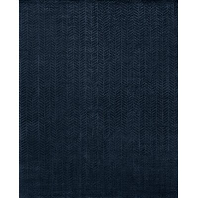 Handwoven Blue Area Rug Rug Size: 36 x 56
