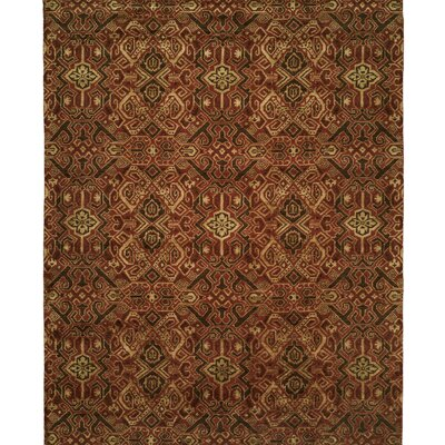 Hand-Woven Brown/Red Area Rug Rug size: 8 x 10