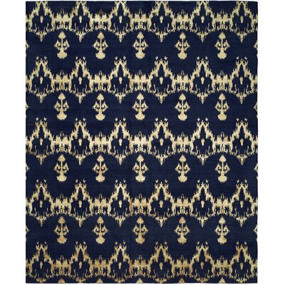 Hand-Woven Blue Area Rug Rug size: 6 x 9