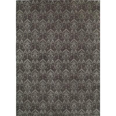 Hand-Woven Gray Area Rug Rug size: 10 x 14