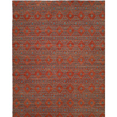 Hand-Woven Brown/Gray Area Rug Rug Size: 4 x 6