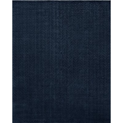 Handwoven Blue Area Rug Rug Size: 5 x 7