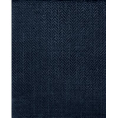 Handwoven Blue Area Rug Rug Size: 8 x 10