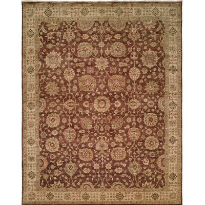 Hand-Knotted Brown Area Rug Rug Size: 12 x 15